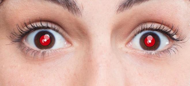 В чем причина появления на фотографии красных глаз