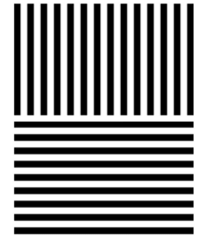 Тест с использованием параллельных линий