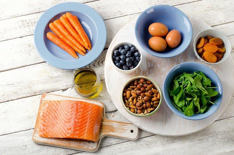 Витаминные продукты для зрения