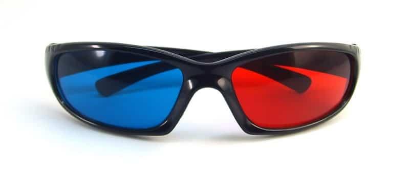 Красно-синие очки для коррекции зрения