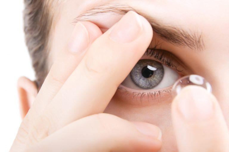 Использование контактных линз при ячмене