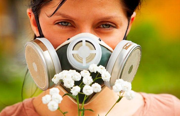 Покраснения глаз при аллергии