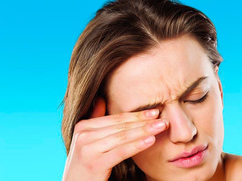 Покраснение глаз при аллергии